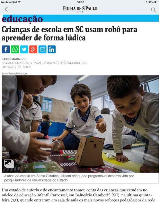 Balneário Camboriú destaque na Folha de SP