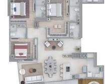 Apartamento alto padrão Planta